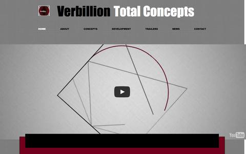 Screenshot of Home Page verbillion.com - Verbillion Total Concepts - captured Oct. 6, 2014
