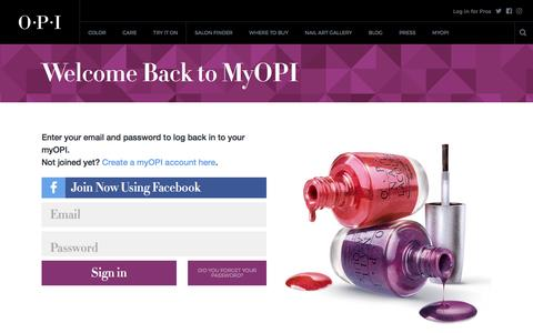 Welcome Back to MyOPI | OPI