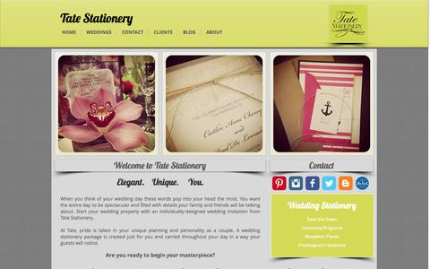 Screenshot of Home Page tatestationery.com - tatestationery - captured Sept. 30, 2014