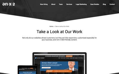 Screenshot of Case Studies Page enx2marketing.com - Client Case Studies - ENX2 Marketing - captured July 10, 2017