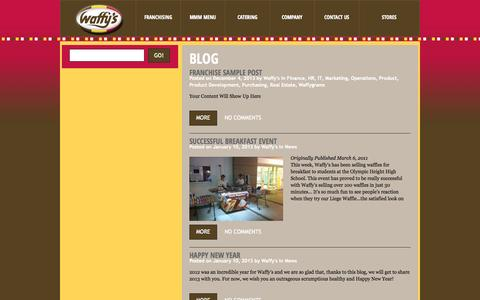 Screenshot of Press Page waffys.com - Waffy's - captured Oct. 7, 2014