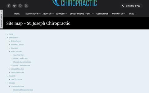 Screenshot of Site Map Page stjosephchiropractic.com - Site map - St. Joseph Chiropractic - captured Oct. 18, 2018