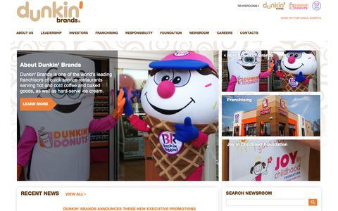 Home |  Dunkin' Brands