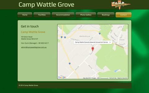 Screenshot of Contact Page campwattlegrove.com.au - Contacts - captured April 5, 2017