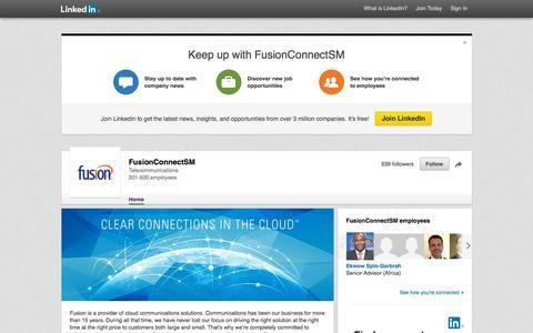 Screenshot of LinkedIn Page linkedin.com - FusionConnectSM | LinkedIn - captured Nov. 23, 2015