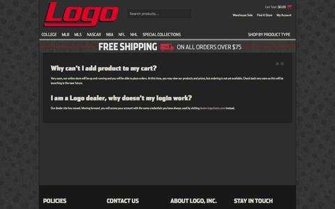 Screenshot of FAQ Page logochairs.com - FAQs - captured Oct. 31, 2014