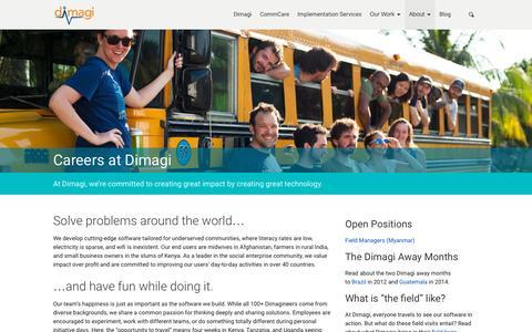 Screenshot of Jobs Page dimagi.com - Careers at Dimagi | Dimagi - captured Nov. 5, 2015