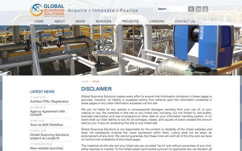 Screenshot of Terms Page globalscanningsolutions.com - Legal - Global Scanning Solutions - captured July 15, 2016