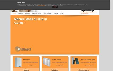 Screenshot of Home Page manaut.com - Manaut - captured Jan. 22, 2016