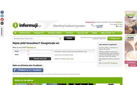 Screenshot of Signup Page informuji.cz captured Jan. 14, 2016