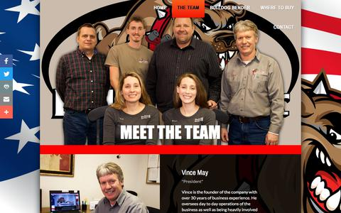 Screenshot of Team Page bulldogmanufacturing.com - The Team - captured June 3, 2017