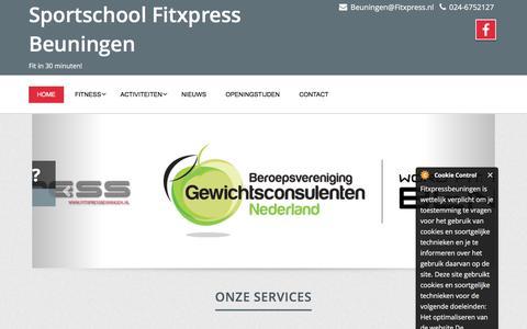 Screenshot of Home Page fitxpressbeuningen.nl - Home page - Sportschool Fitxpress Beuningen - captured Aug. 4, 2016