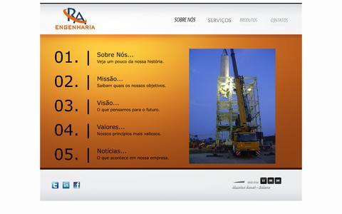 Screenshot of Home Page raengcom.com.br - ::.. RA Engenharia ..:: - captured Oct. 6, 2014