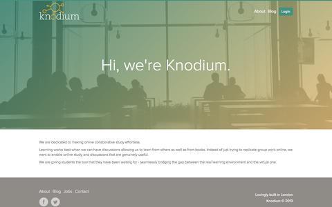 Screenshot of About Page knodium.com - About - Knodium - captured Sept. 16, 2014