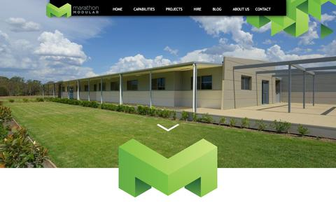Screenshot of Home Page mgpl.com.au - Marathon Modular | Custom designed modular buildings - captured Feb. 12, 2016