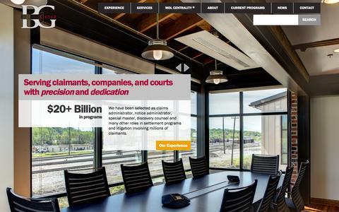 Screenshot of Home Page browngreer.com - BrownGreer - captured Jan. 15, 2016