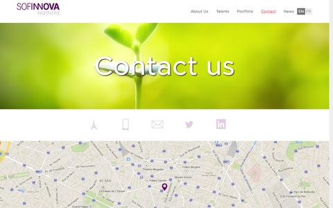 Screenshot of Contact Page sofinnova.fr - Contact | Sofinnova - captured Sept. 16, 2014