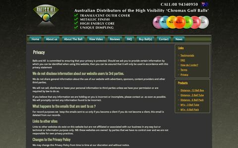 Screenshot of Privacy Page ballsandall.com.au - Privacy   Balls and All - captured Sept. 30, 2014