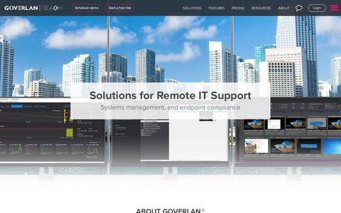 Screenshot of About Page Team Page goverlan.com - Remote access software solutions to simplify remote IT support - captured Feb. 14, 2019