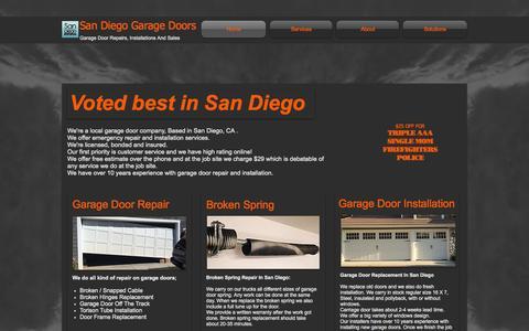 Screenshot of Home Page san-diego-garage-doors.com - San Deigo Garage Doors | Repair & Installation - captured Nov. 21, 2015