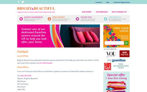 Screenshot of brightandbeautifulhome.com - Contact | Bright & Beautiful - captured Oct. 3, 2015