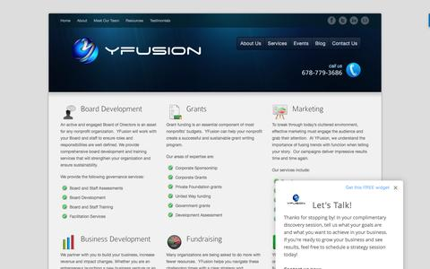 Screenshot of Services Page yfusionmg.com - Services | YFusion - captured Nov. 17, 2016