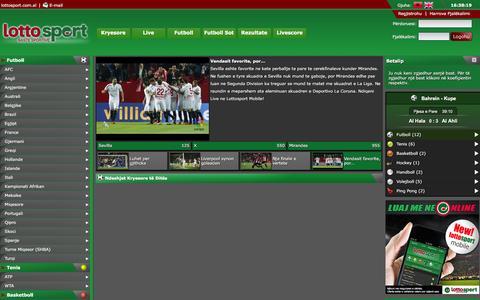 Screenshot of Home Page lottosport.com.al - Lottosport - captured Jan. 20, 2016