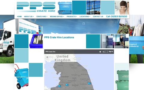 Screenshot of Locations Page ppscratehire.co.uk - Locations - captured Sept. 26, 2014