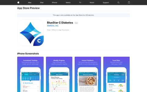 BlueStar C Diabetes on the App Store