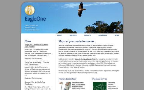 Screenshot of Home Page eagleonecms.com - EagleOne | Medical Case Management, Return to Work, Translation - captured Oct. 1, 2014