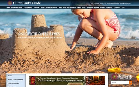 Screenshot of Contact Page obxguides.com - Contact Us | Outer Banks Guide Sites - captured March 15, 2016