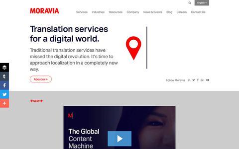 Translation   Localization   Testing - Moravia