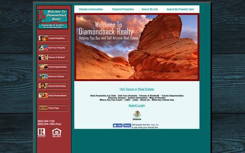 Screenshot of Home Page diamondbackrealty.com - Phoenix Real Estate - 44 Cities! - Phoenix Real Estate - 44 Cities! - Phoenix Real Estate - captured Oct. 18, 2018
