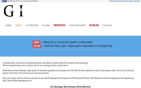 Screenshot of About Page geekinitus.com - About - Geek Initus - captured Dec. 8, 2015