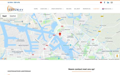 Screenshot of Contact Page isasecurity.nl - Neem contact met ons op   International Security Agency (ISA) - captured Oct. 12, 2018