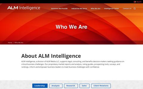 Screenshot of Team Page alm.com - Learn Who we Are at ALM Intelligence - captured Oct. 26, 2018