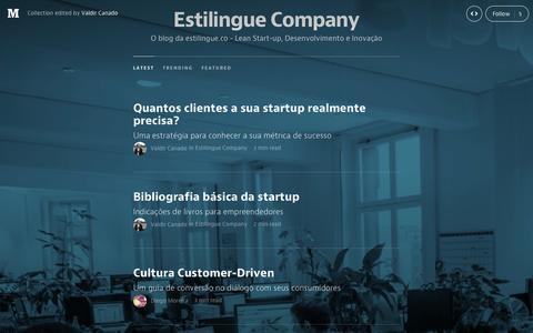 Screenshot of Blog medium.com - Estilingue Company — Medium - captured Oct. 10, 2014
