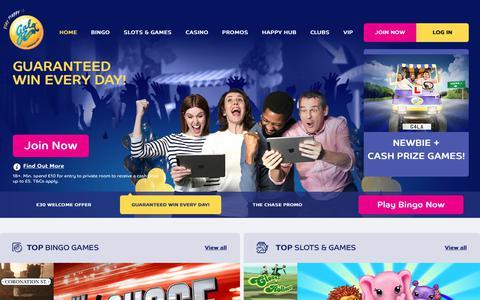 Screenshot of Home Page galabingo.com - Gala Bingo: Play Online Bingo | £30 UK Welcome Bonus - Gala Bingo - captured July 16, 2017