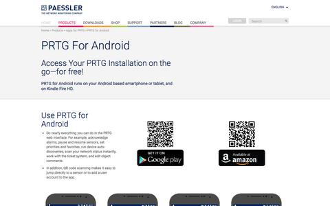 PRTG for Android—Access Your PRTG Installation On the Go!