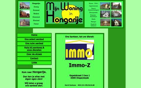 Screenshot of Contact Page mijnwoninginhongarije.be - Contact - captured Oct. 27, 2014