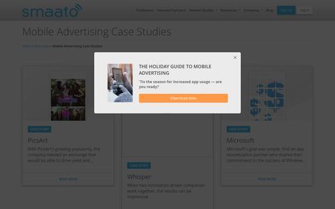 Screenshot of Case Studies Page smaato.com - Mobile Advertising Case Studies - Smaato - captured Nov. 24, 2018
