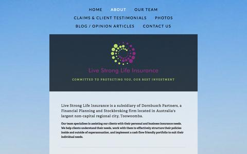 Screenshot of About Page lsli.com.au - About — Live Strong Life Insurance - captured Oct. 2, 2014