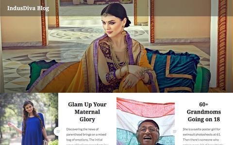 Screenshot of Blog indusdiva.com - IndusDiva Blog - captured May 10, 2017