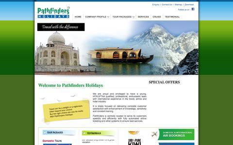Screenshot of Home Page planmyholidays.com - Tour Operator India, World Tour Operator, International Tour Operator - captured Oct. 2, 2014