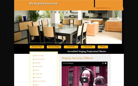 Screenshot of Services Page myenglishtouch.com - Home Staging - captured Oct. 7, 2014