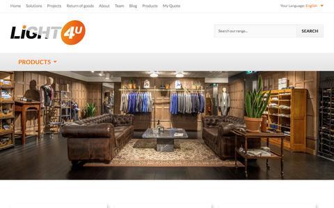 Screenshot of Products Page light-4-u.com - Home page - captured Nov. 8, 2016