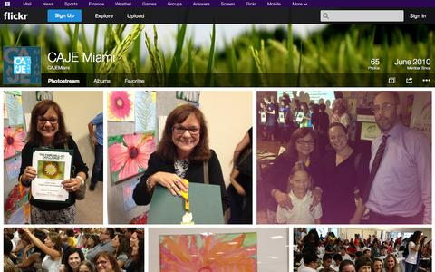 Screenshot of Flickr Page flickr.com - Flickr: CAJEMiami's Photostream - captured Oct. 22, 2014