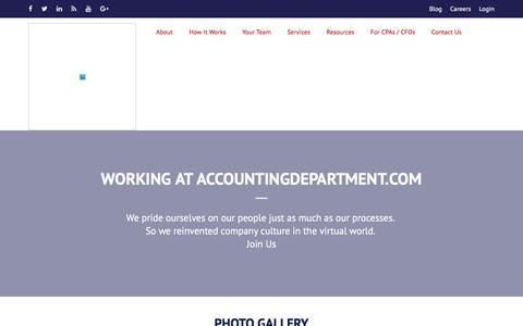Screenshot of Jobs Page accountingdepartment.com - Career - captured July 19, 2018