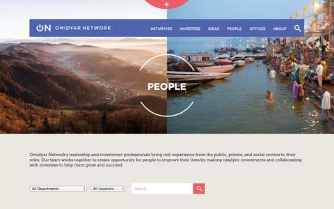 Screenshot of Team Page omidyar.com - People | Omidyar Network - captured Nov. 3, 2014