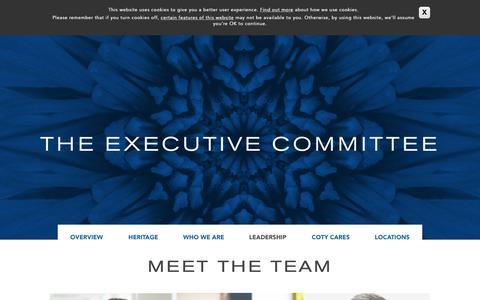 Screenshot of Team Page coty.com - Leadership | Coty - captured Nov. 11, 2015